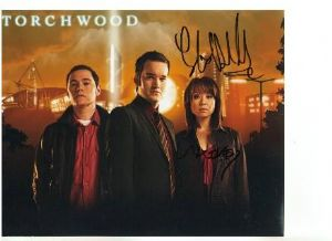 Signed 10 x 8 Photograph of Gareth David Lloyd & Naoko Mori from Torchwood